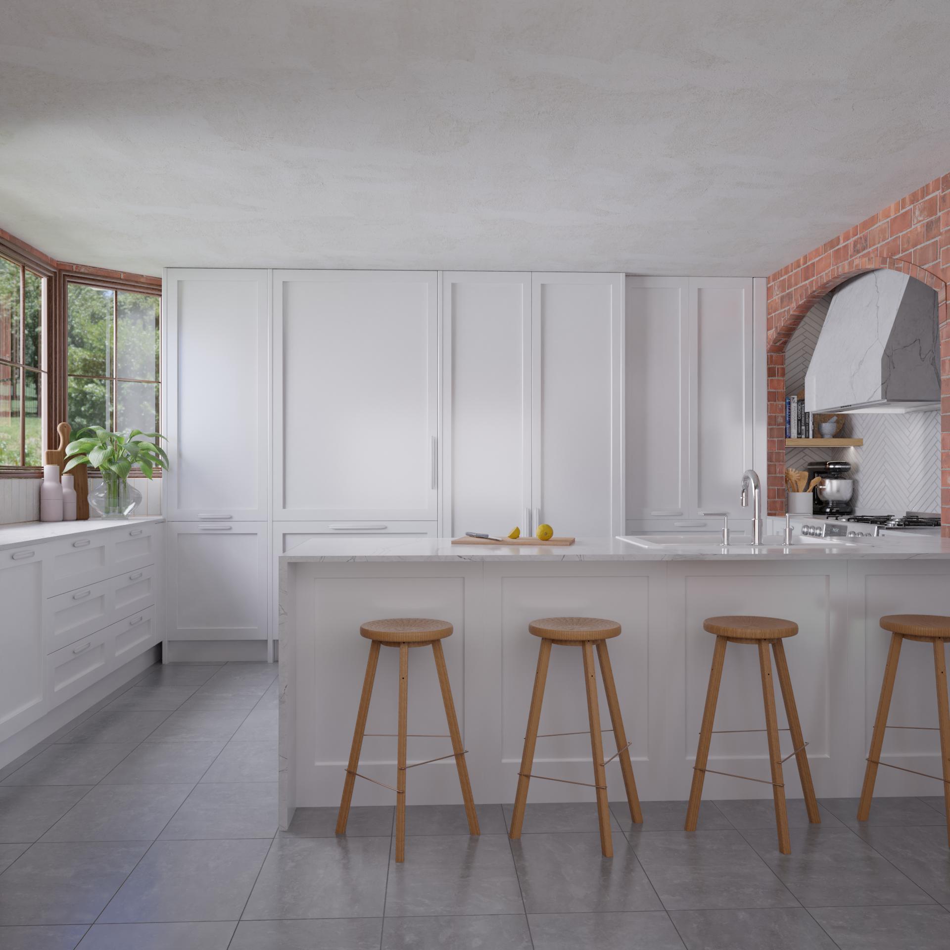 Interior Design Studio. 3D render kitchen. Interior Design Port Macquarie.